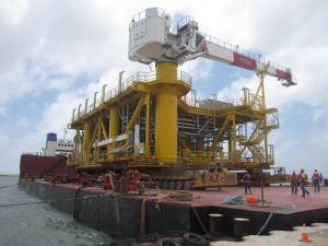 Gas Re-Injection Platform loaded on AIS Charter Barge