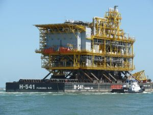 Re-Injection Platform loaded on AIS Charter Barge