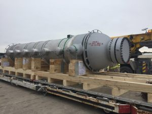 Airfreight import for 1 of 2 DXU Heat Exchanger received at IAH Houston Airport