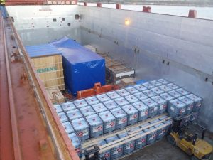 Dangerous goods loaded on AIS Charter Vessel