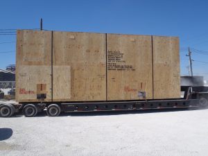 One of 15 Generator Sets in route to destination