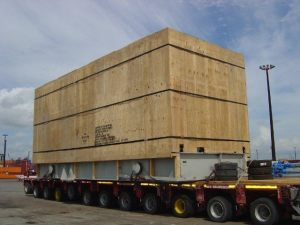 AIS export crated Pump Package in route to loading port