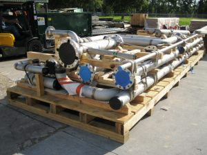 Cryogenic Plant Spool in process of export crating