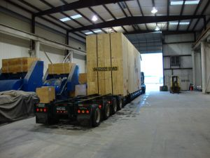 One of 15 Generator Sets leaving export packing facility