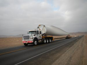 Windmill blade in route to site